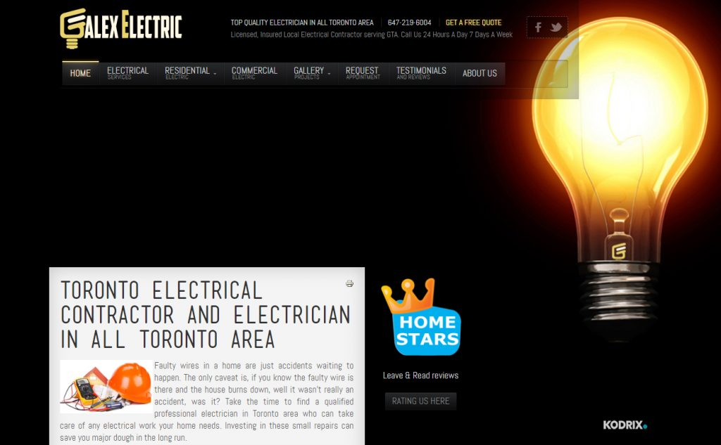 Toronto electrical contractor and electrician in all toronto area