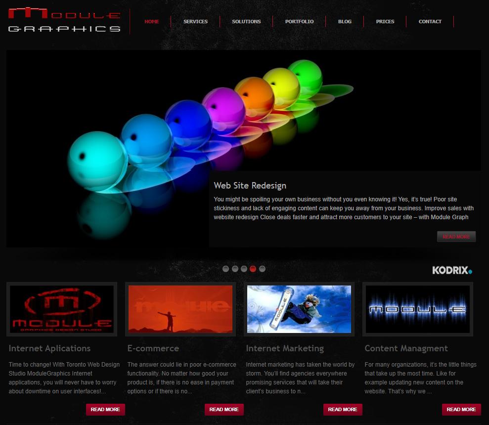 Module Graphics is a professional web design studio in Toronto