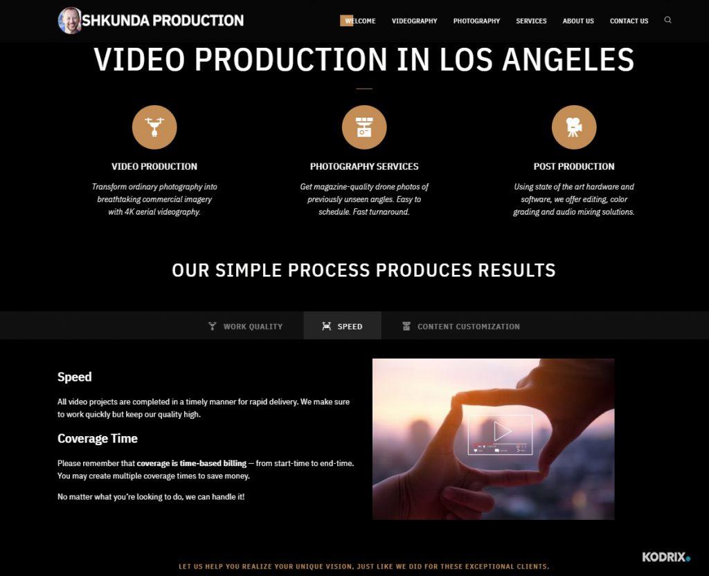 Shkunda production