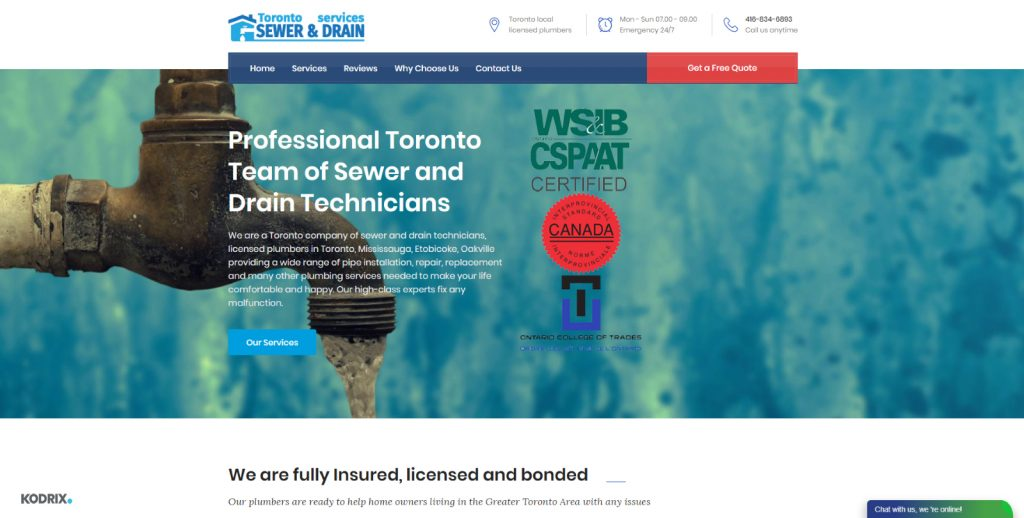 Toronto Team of Sewer and Drain Technicians