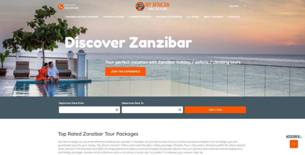 vacation with Zanzibar holiday / safaris / climbing tours
